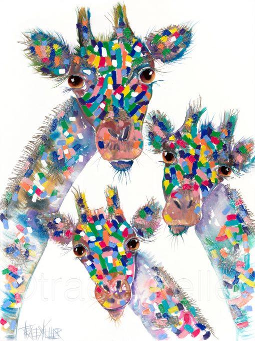 3 giraffes original