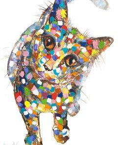 bella cat textured print
