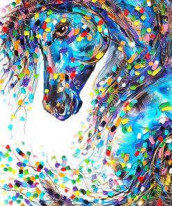 fantasy horse textured print