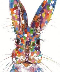 rabbit face textured print