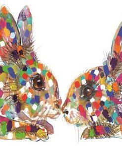 rabbit kiss textured print