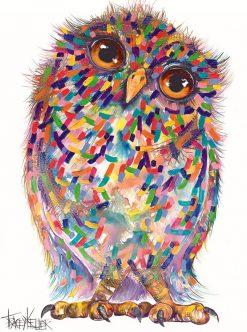 solo owl textured print