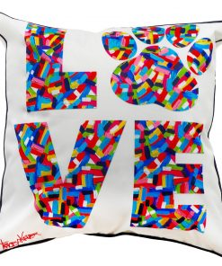 Doggy Love Indoor/Outdoor Cushion Cover tracey keller