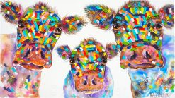 Our Threesome Tracey Keller 3 Cows Painting